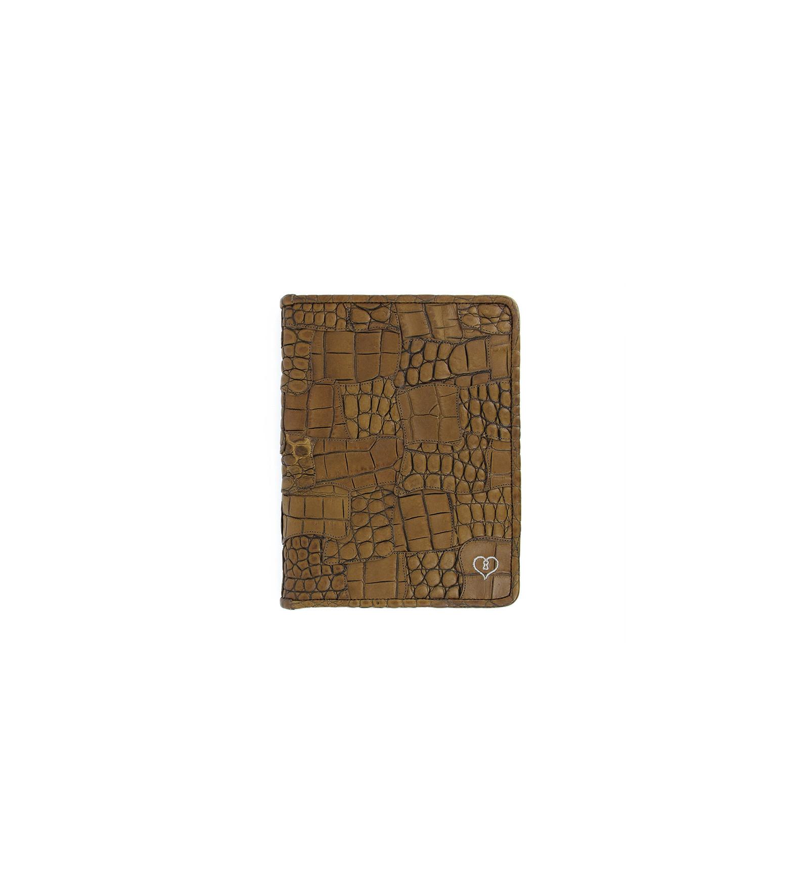 Porte bloc notes croco luigny marron clair jean for Soldes portes interieures