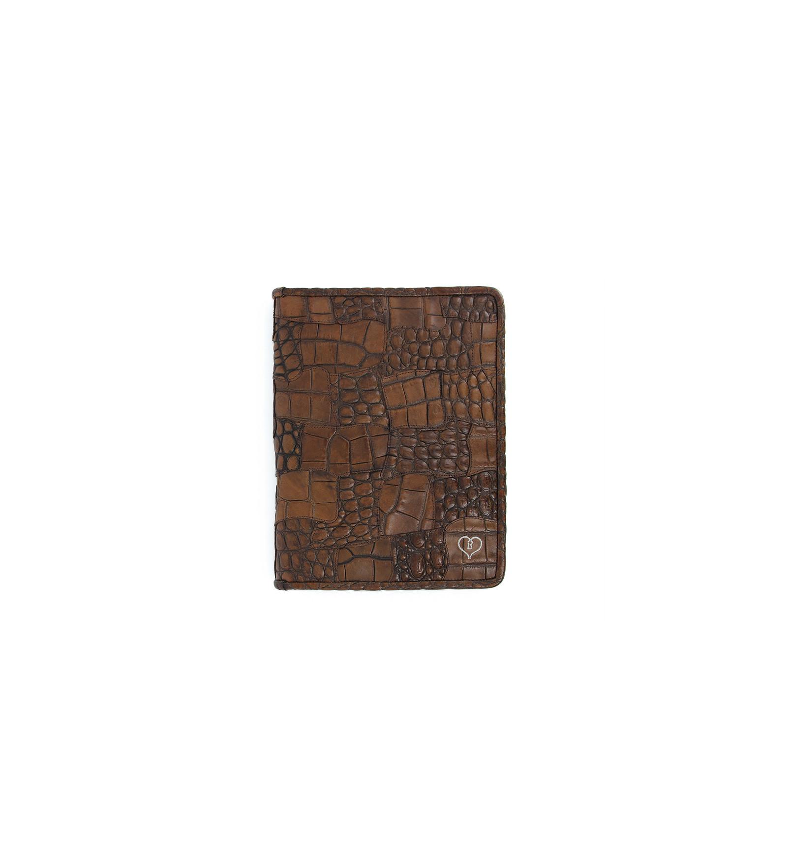 Porte bloc notes croco luigny marron moyen jean for Soldes portes interieures