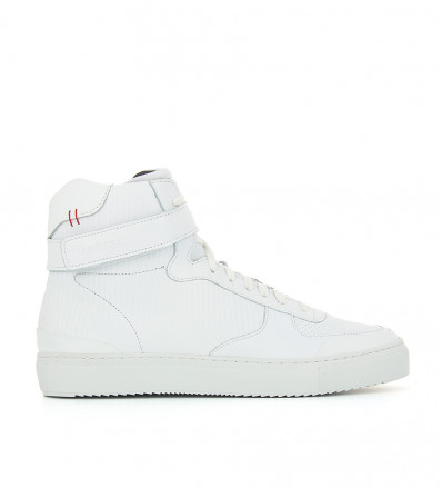 HIGH TOP VELCRO SNEAKERS - NAPPA - BLANC