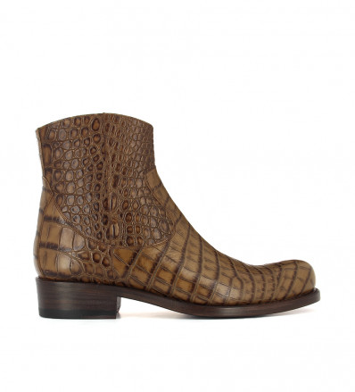 NUTY ZIP BOOT - CROCO FIRST - BRUN