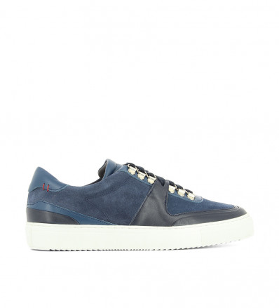 LOW TOP SNEAK - MIX NAPPA SUEDE - TRIPLE BLUE
