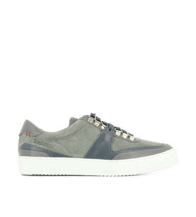 LOW TOP SNEAK - MIX NAPPA SUEDE - TRIPLE GREY