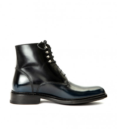NORWAY LACE UP BOOT - POLIDO USED - NOIR/BLEU