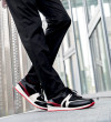 JOGGER V SHARK SOCK - NEOPRENE/NAPPA/MESH - BLACK/RED WHI/BLACK