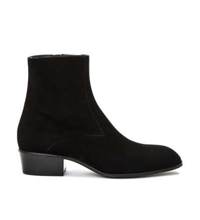 JULES ZIP BOOT - CHEVRE VELOURS - NOIR
