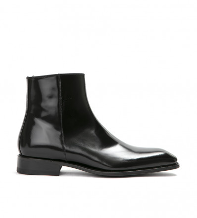 ROMAIN ZIP BOOT - CUIR GLACE - NOIR