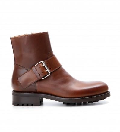 Hyrod Strap Boot - Cuir Glace Vintage - Ebene