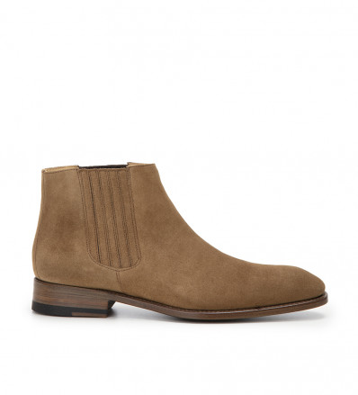 Romain Low Chelsea Boot - Cuir Velours - Cigare