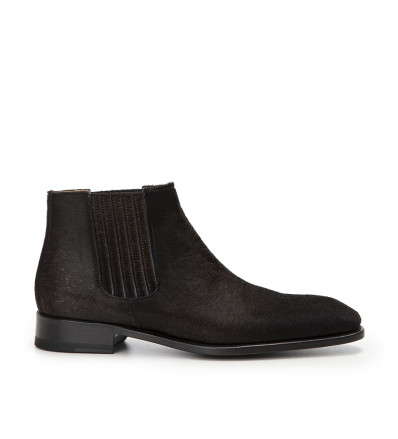 Romain Low Chelsea Boot - Pony Sauvage - Noir