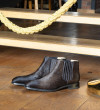 Romain Low Chelsea Boot - Pony Sauvage - Noir