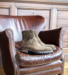Hyrod Strap Boot - Cuir Velours - Olive