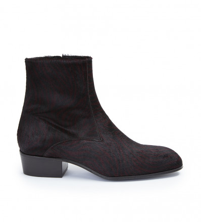 Jules Zip Boot - Pony Zebre - Bordeaux
