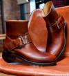 Hyrod Strap Boots - Cuir Glacé Vintage - Ebène