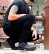Hyrod Strap Boots - Cuir Velours - Off Black