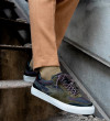 Low Top Sneakers - Cuir Velours/Bombers - Army/Army Kaki