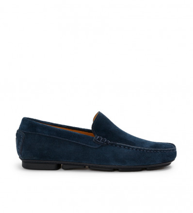 PYLA MOC - CUIR VELOURS - OUTREMER