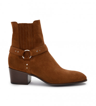 JULES 5 HARNAIS BOOT - CUIR VELOURS - TABAC