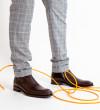 Romain Zip Boots - Cuir Glacé - Brun