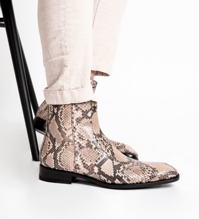 ROMAIN ZIP BOOT - PYTHON - NATUREL