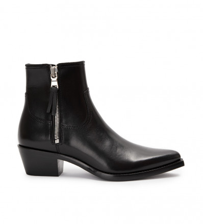 CLINT ZIP BOOT - CUIR VEGETAL - NOIR