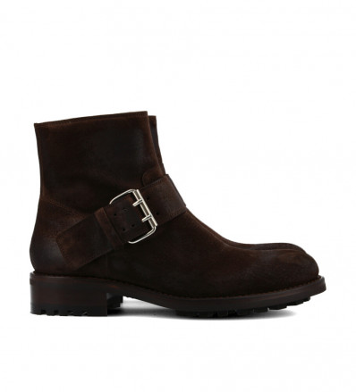 Hyrod Strap Boots - Cuir Velours - Truffe