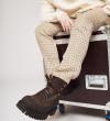 Cross Mountain Elast Boots - Gomme/Cuir velours - Noir/Truffe