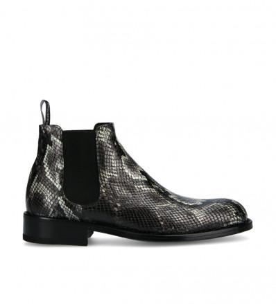 Axel Chelsea Boot - Snake Print - Ardoise