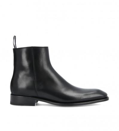 Romain Zip Boot - Veau Lisse - Noir