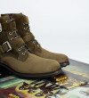 Hyrod Two Buckle Zip Boots - Cuir Velours - Army