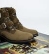 Hyrod Two Buckle Zip Boot - Cuir Velours - Army