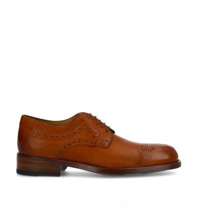 Axel Perfo Derby - Cuir Retro Mat - Whisky