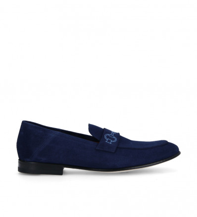 Carry Loafer - Cuir Velours - Marine
