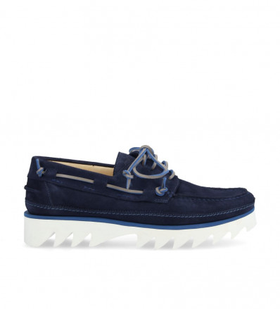 Loick Boat Shoe - Cuir Velours - Marine