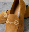 Carry Loafer - Cuir Velours - Caramel