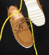 Loick Boat Shoe - Cuir Velours - Caramel