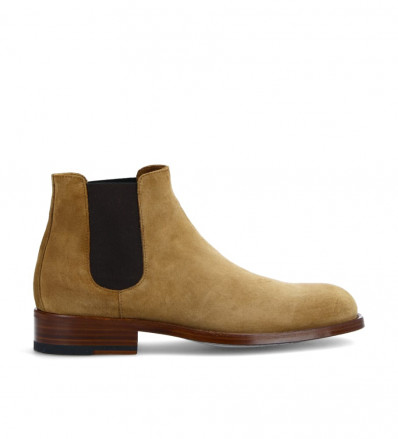Axel Chelsea Boot - Cuir Velours - Cigare