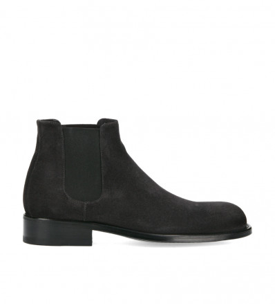 Boot chelsea Axel - Cuir velours - Gris anthracite