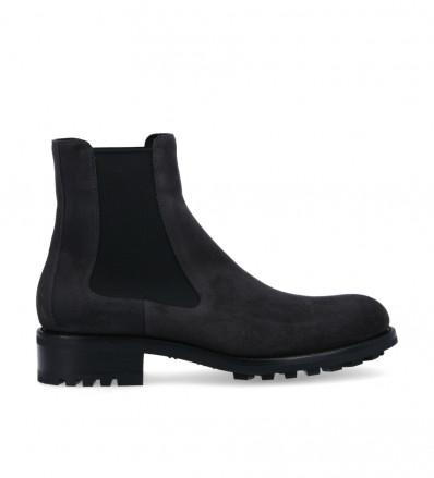 Hyrod Chelsea boot - Suede leather - Dark grey